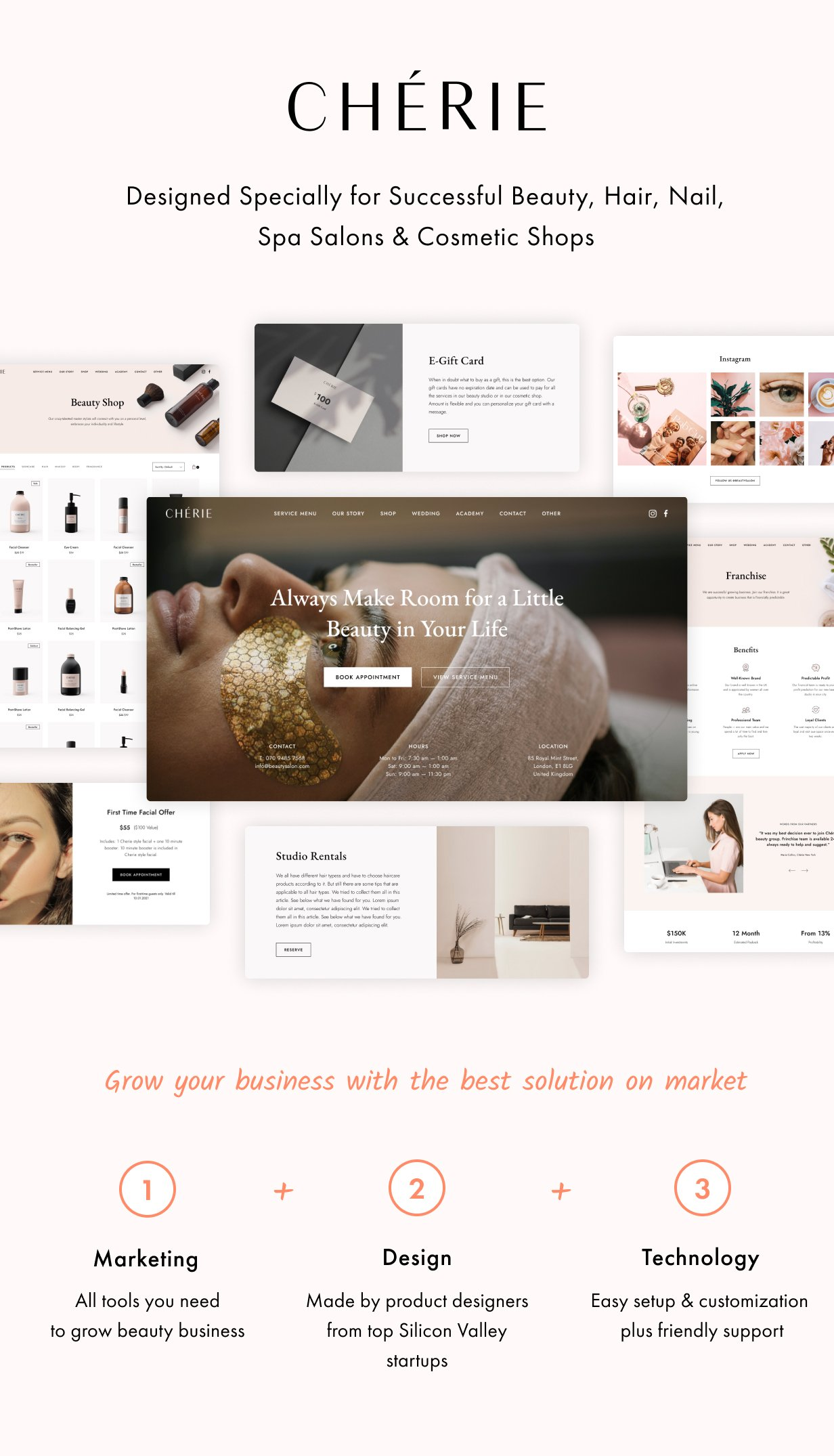 Cherie WordPress Theme Presentation Image