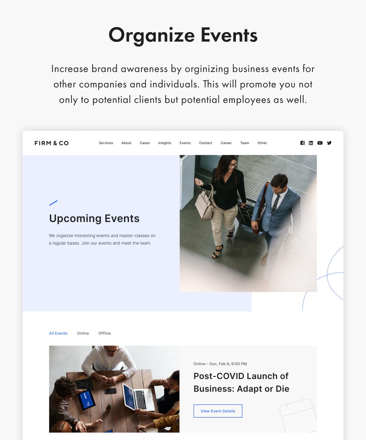 Denaro WordPress Theme Presentation Image