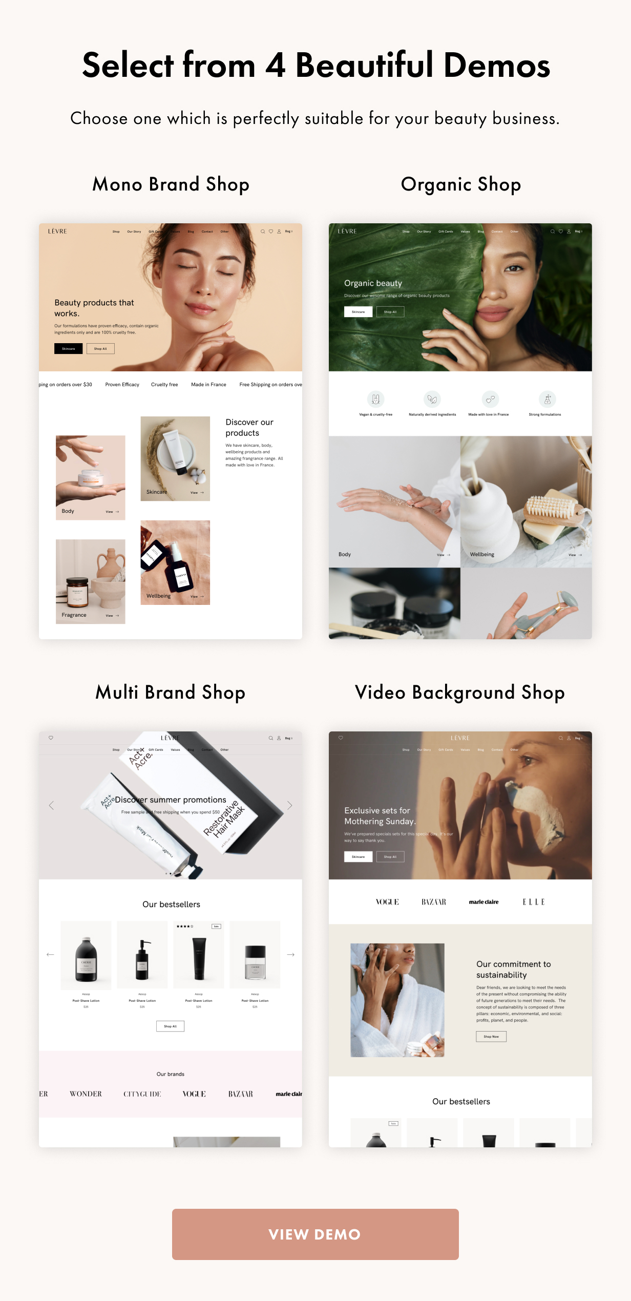 Levre WordPress Theme Presentation Image